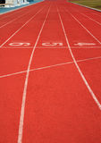 Running track rubber Royalty Free Stock Images