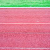 Running track rubber Stock Images