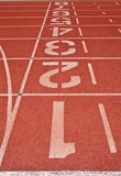 Running track rubber standard. Red color Stock Photo