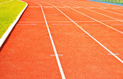 Running track rubber Stock Photos