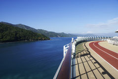 Running track on the sea Royalty Free Stock Images