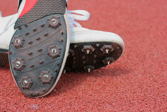 Running-track shoes Royalty Free Stock Photography