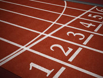 Running track. Showing starting numbers stock photos