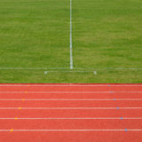 Running track and soccer Stock Image