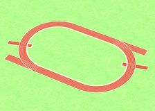 Running track (sport area) Royalty Free Stock Images