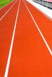 Running track at stadium Royalty Free Stock Photos