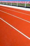 Running track at stadium Stock Images