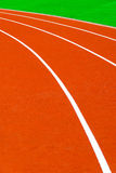 Running track at stadium Royalty Free Stock Photo