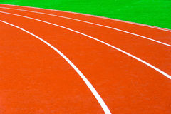 Running track at stadium Royalty Free Stock Photos