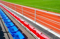Running track at  stadium Royalty Free Stock Photography