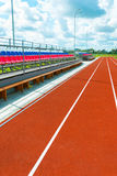Running track at  stadium Royalty Free Stock Photography