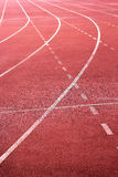 Running track for in the stadium. Royalty Free Stock Photo
