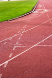 Running track for in the stadium. Stock Images