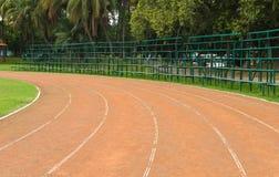 Running track in stadium Royalty Free Stock Photo