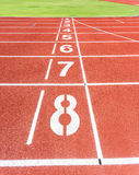Running track Royalty Free Stock Photo