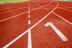 Running track in stadium. Stock Photography