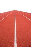 Running track in stadium. Stock Photos
