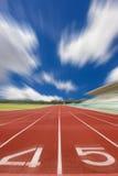 Running track in stadium Stock Photo
