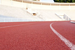 Running track in a stadium Royalty Free Stock Photography