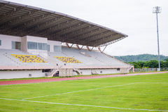 Running track and stadium field Stock Images