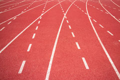 Running track in stadium. Stock Photos
