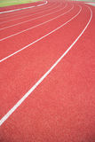 Running track in stadium. Royalty Free Stock Image