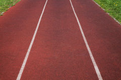 Running track in stadium. Royalty Free Stock Photos