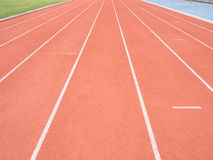 Running track in stadium Royalty Free Stock Photography