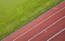 Running track in a stadium Stock Photography