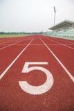Running track in stadium. Stock Images