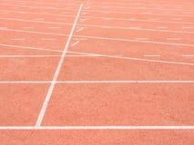Running track in stadium. Start line stock images
