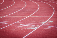 Running track in the stadium Royalty Free Stock Image