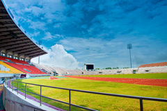 Running track in stadium. Running track in a stadium of Thailand Royalty Free Stock Photography
