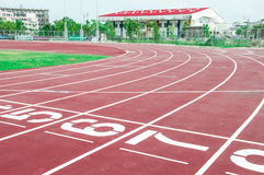 Running track on start numerals Stock Image