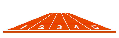 Running track - start position. On white background Royalty Free Stock Photo