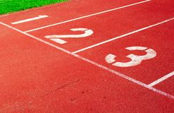Running track starting line Stock Images