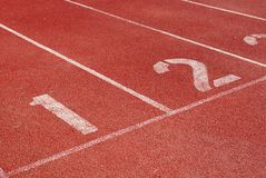 Running track starting line Stock Photography
