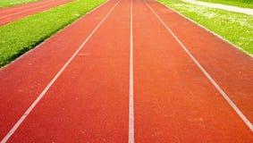 Running Track straight Stock Photos