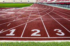 Running track texture for background. Stock Photography