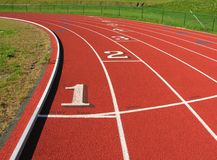 Running track turn. Stock Images