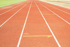 Running track with white line texture. Stock Photography