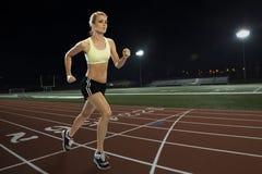 running track woman Στοκ Φωτογραφίες
