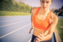 running track woman Στοκ φωτογραφία με δικαίωμα ελεύθερης χρήσης
