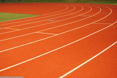 Running tracks Stock Photography