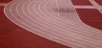 Running tracks. Of the Zurich city stadium royalty free stock photography
