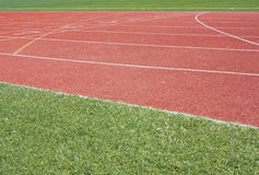 Running tracks. On a stadium royalty free stock photography