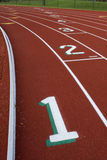 Running tracks abstract with  lane numbers Stock Photos