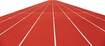 Running tracks isolated on white Royalty Free Stock Photography