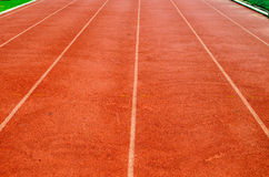 Running Tracks. Six Lane of running track Royalty Free Stock Photography