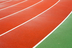 Running tracks in a sports area. Running tracks in a stadium royalty free stock image